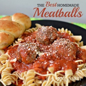 A plate of spaghetti with meatballs