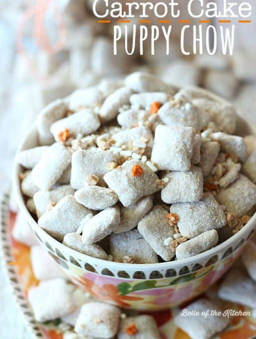 Carrot Cake Puppy Chow Recipe
