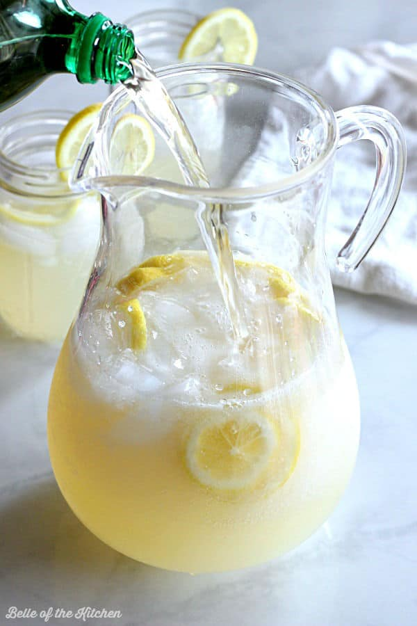 This Ginger Lemonade is an easy way to make your spring get togethers more elegant and fun. All you need is two simple ingredients and you're ready to sip!