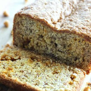 A slice of banana bread