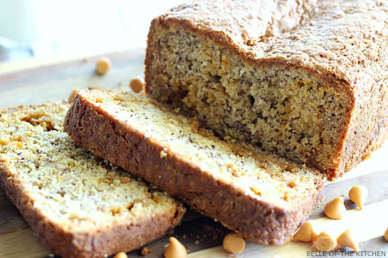 Moist and delicious banana bread is made extra special with sweet butterscotch chips. Once you try this, you'll never want regular banana bread again!
