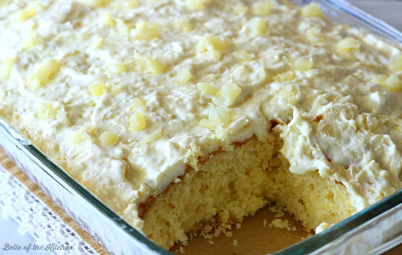 Crushed Pineapple Coconut Cake