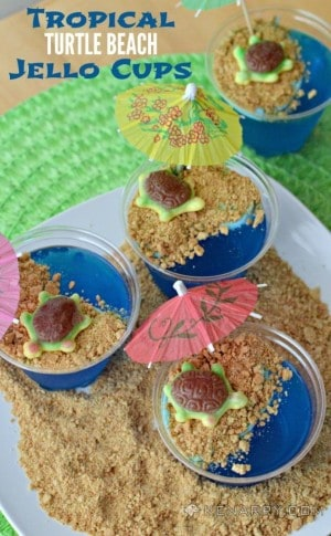 Tropical Turtle Beach Jello Cups from Kenarry: Ideas for the Home