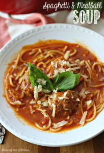 This Spaghetti and Meatball Soup is so good! A one-pot meal loved by the whole family.