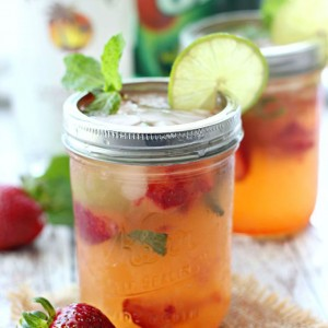 Strawberry Pineapple Mojitos