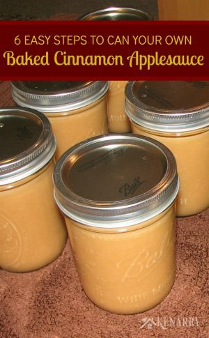 mason jars filled with applesauce