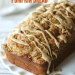 Cinnamon Streusel Pumpkin Bread with Maple Glaze