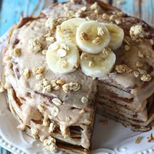 Greek Yogurt Almond Butter Pancakes