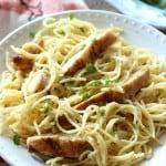 #AD One-Pot Cheesy Garlic Chicken Spaghetti