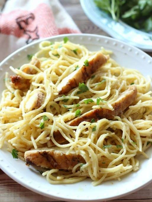 #AD One-Pot Cheesy Garlic Chicken Spaghetti