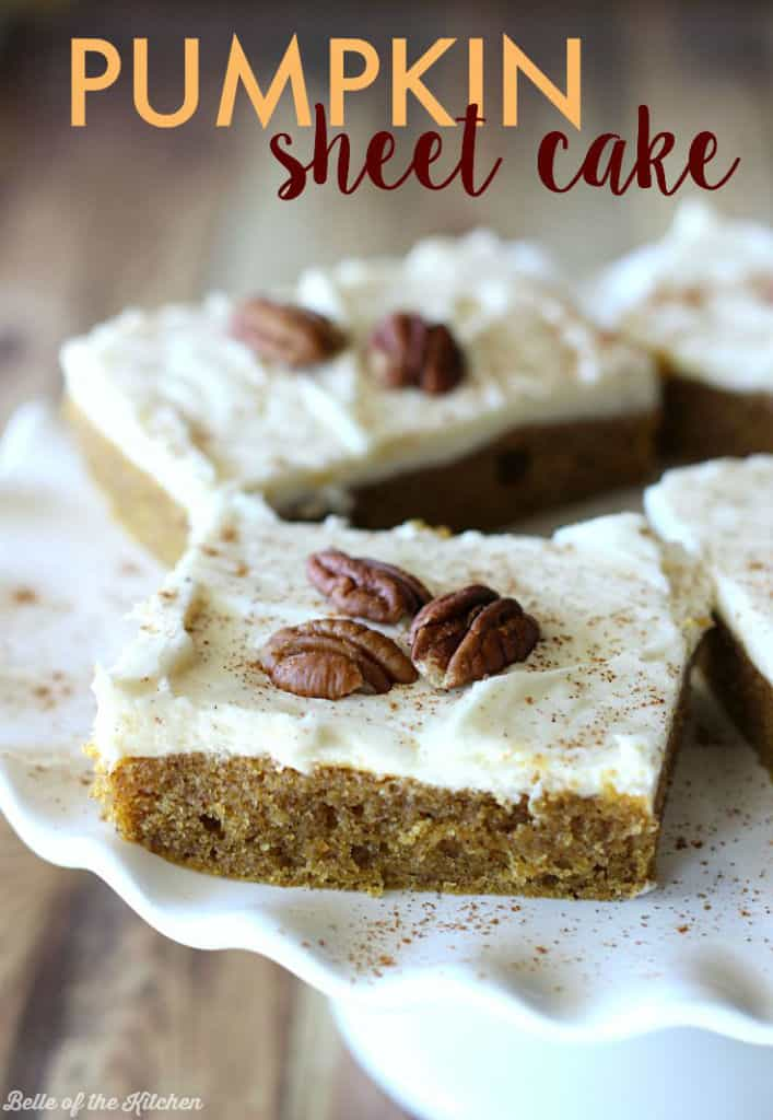 Pumpkin Sheet Cake Recipe Easy Fall Recipe Belle Of