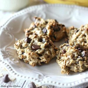 Lighter Banana Oatmeal Chocolate Chip Cookies