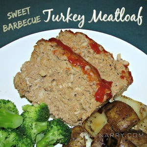 A plate of food with broccoli, meatloaf, and potatoes
