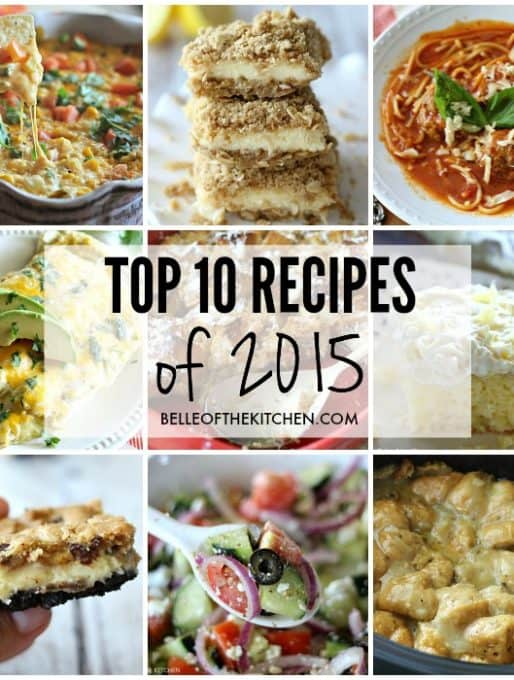 Top 10 Recipes from 2015!