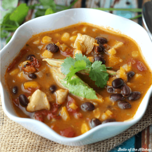 Lighter Chicken Taco Soup