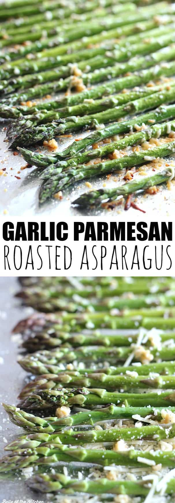 Garlic parmesan roasted asparagus belle of the kitchen this is my favorite way to eat asparagus roasted with garlic and topped with parmesan ccuart Gallery