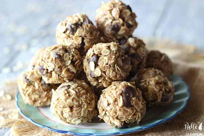 A plate of coconut almond energy balls
