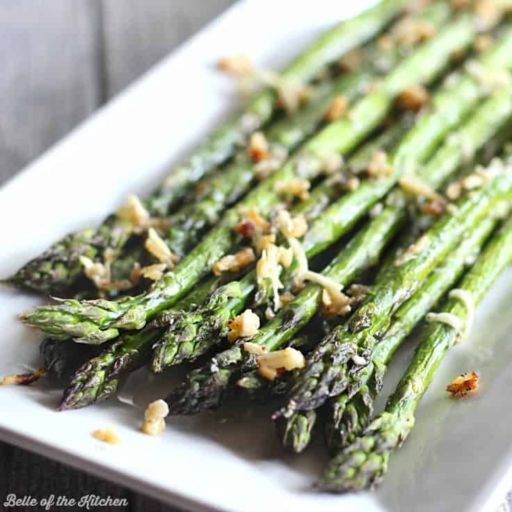 Garlic Parmesan Roasted Asparagus Belle Of The Kitchen