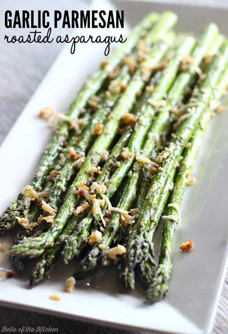 This Is My Favorite Way To Eat Asparagus Roasted With Garlic And Topped Parmesan