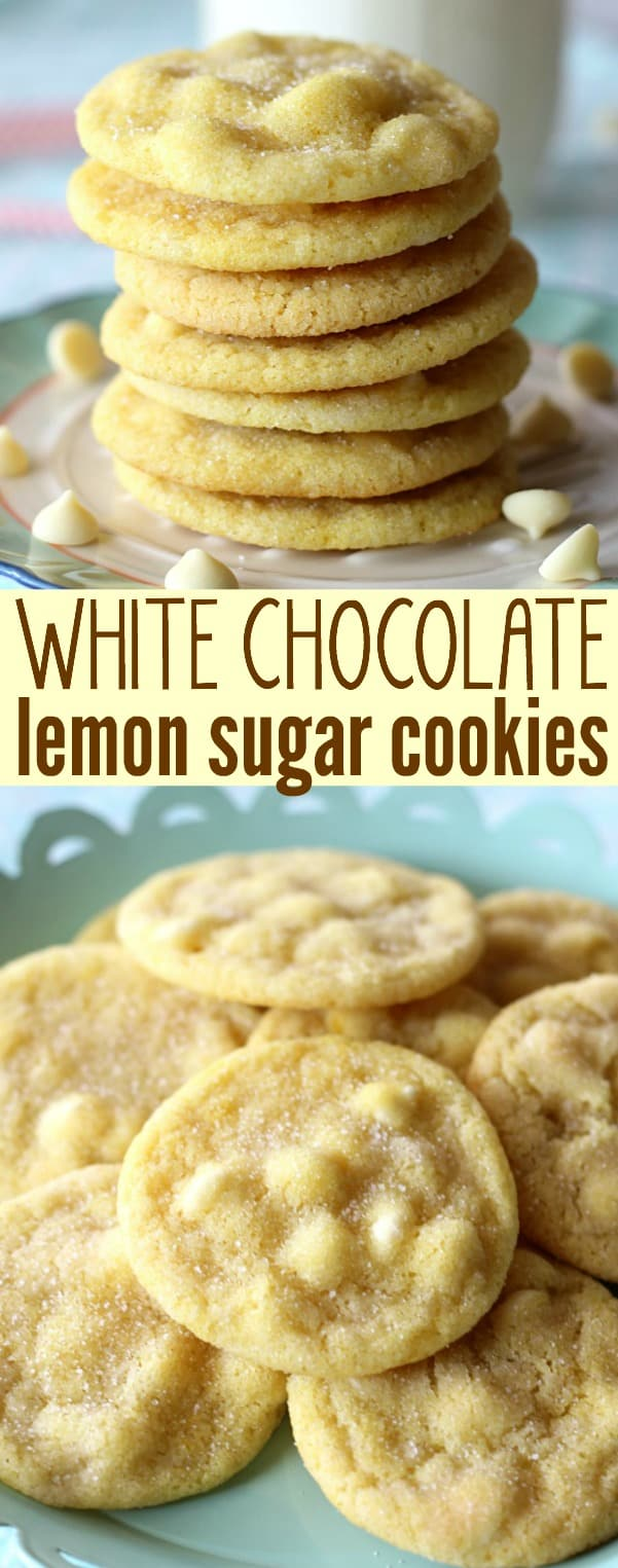 White Chocolate Lemon Sugar Cookies Belle Of The Kitchen