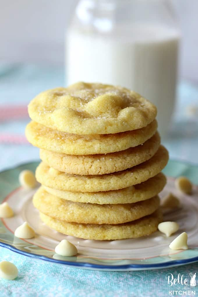 A close up of a stack of cookies on a plate