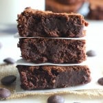 Fudgy Dark Chocolate Brownies