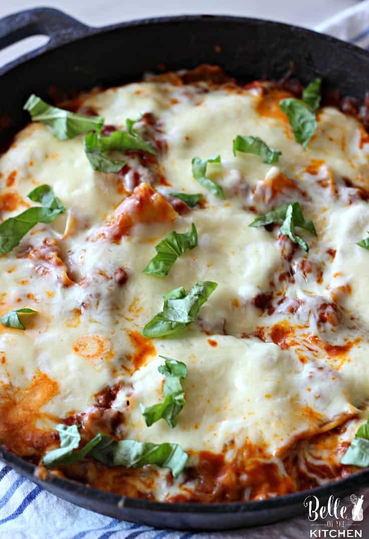 A close up of a pizza of lasagna
