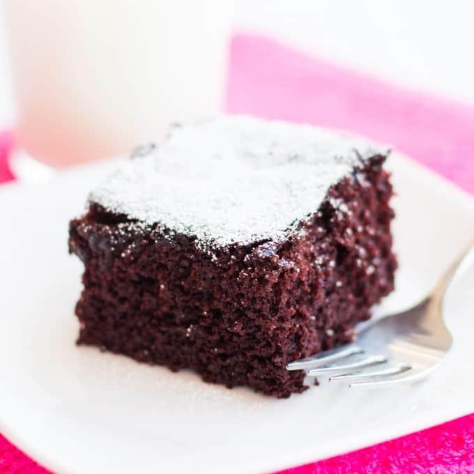 Egg-free, Dairy-free Chocolate Cake