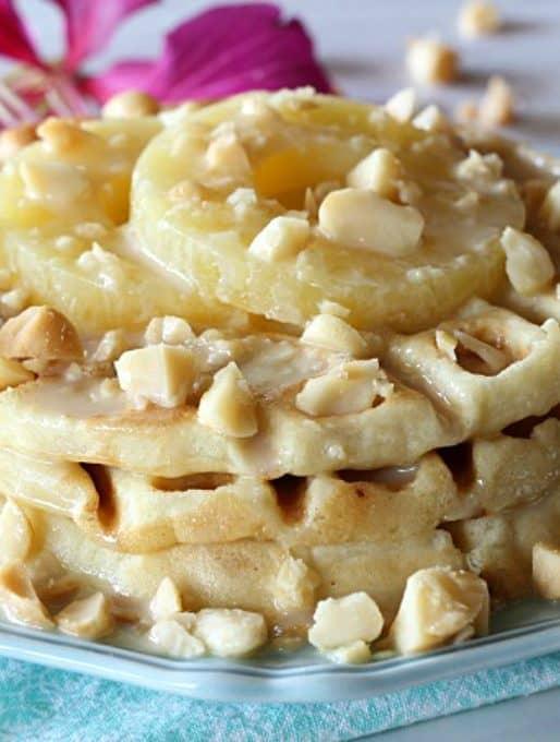 Pineapple Mac Nut Waffles
