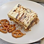 Caramel Fudge Ice Cream Cake With Pretzel Crust