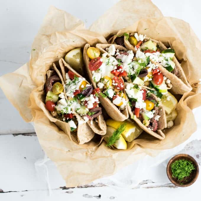 Grilled Flank Steak Pita Wraps