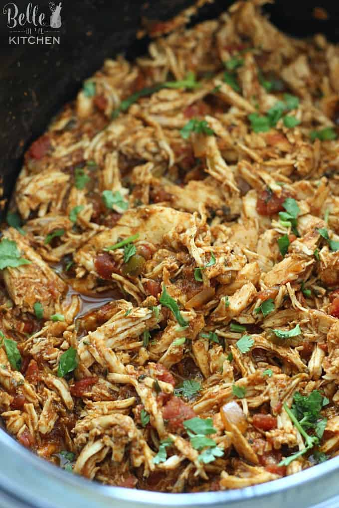 A bowl of shredded chicken