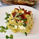 Bacon, Spinach, and Feta Breakfast Casserole