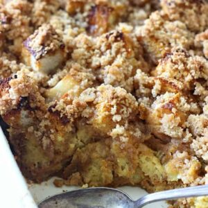 Caramel Pumpkin French Toast Casserole
