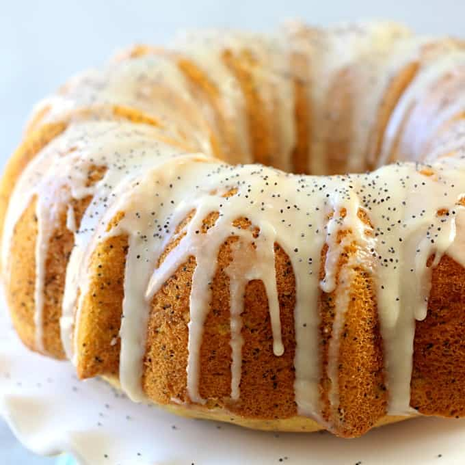 Moist Lemon Poppy Seed Bundt Cake Recipe