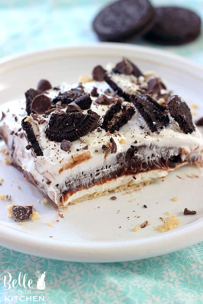 This Oreo Four Layer Dessert is one of our favorites! No one is able to resist it.