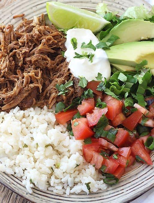 Chipotle Pork Carnitas Burrito Bowls