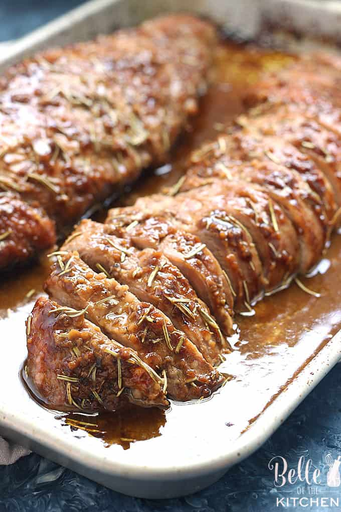 This Honey Dijon Pork Tenderloin is my absolute FAVORITE way to cook pork tenderloin! It's so flavorful and simple to make. Definitely a regular in our dinner rotation!