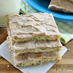 a stack of zucchini bars