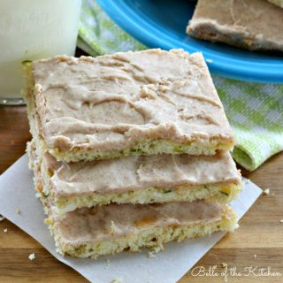 These Cinnamon Frosted Zucchini Bars are the perfect spring dessert. Whip up a batch for your next get together, or just for a special little treat anytime!