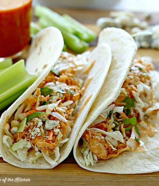 Crockpot Buffalo Chicken Tacos