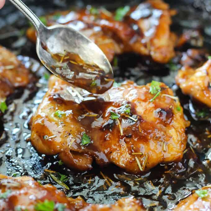Honey Dijon Chicken Thighs Belle Of The Kitchen