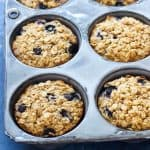 When you need a healthy and easy breakfast, these blueberry baked oatmeal cups are perfect for making ahead and enjoying on busy mornings!