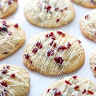 These Cranberry Bliss Bar Cookies are the ultimate holiday dessert! They are a true-to-taste copycat of the popular Starbucks treat, and are easy to make right at home!