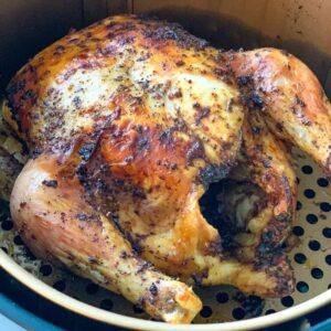 whole chicken in an air fryer