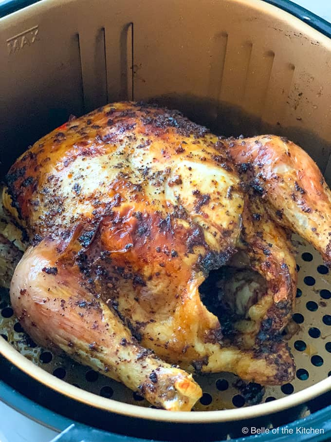 whole chicken in an air fryer