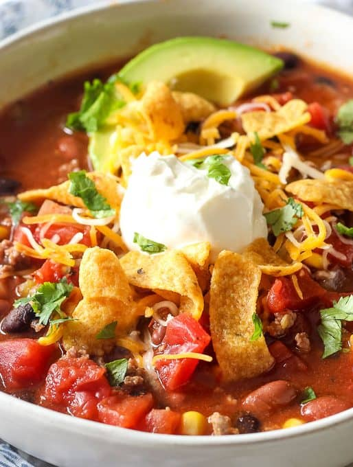 Slow Cooker Taco Soup Recipe