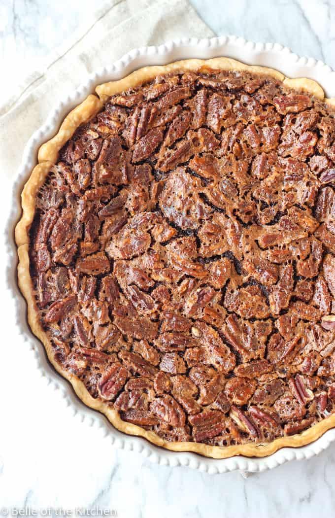 A close up of Pecan pie
