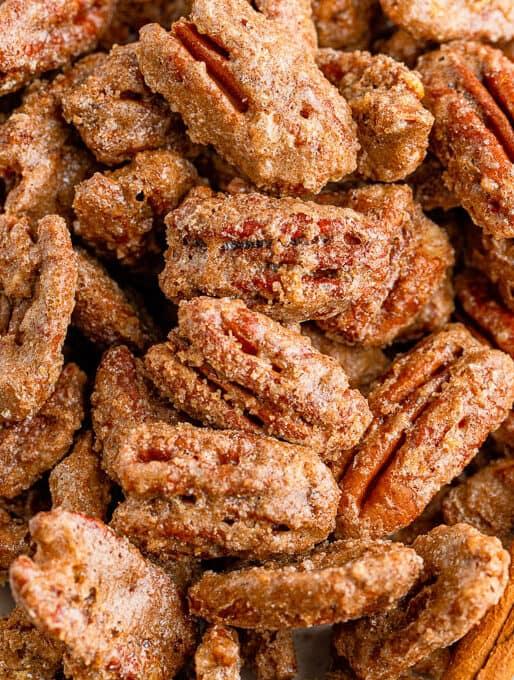 Cinnamon & Sugar Roasted Pecans Recipe