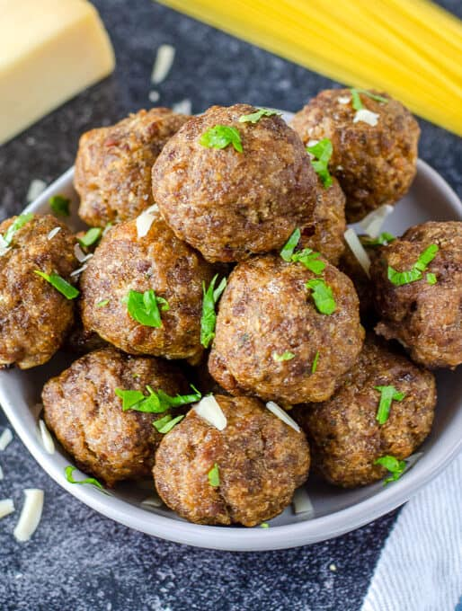 Homemade Baked Meatballs